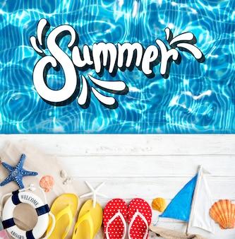 Strandroeping geniet van vakantie zomerconcept