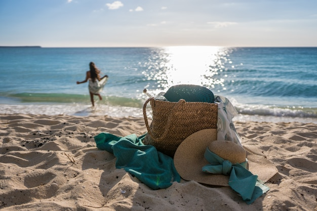 Strandtas op het strand