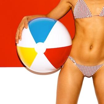 Strandvibes hot summer hot girl beach party-stijl