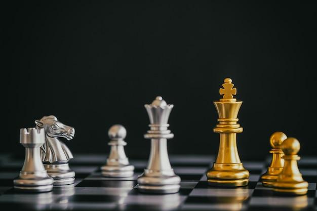 Strategie schaak gevecht intelligentie uitdaging spel op schaakbord