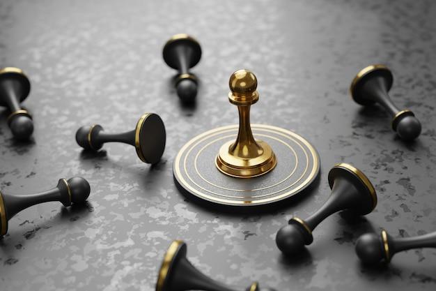 Strategische zaken, overwinnen van concurrenten concept