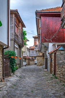 Straten van de oude stad van nessebar, bulgarije