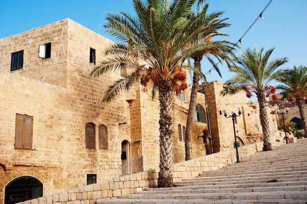 Straten van old jaffa in tel aviv, israël
