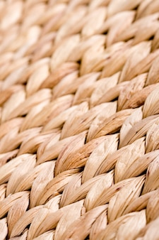 Straw mat achtergrond - macro opname