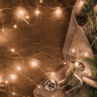 String lichten op doek
