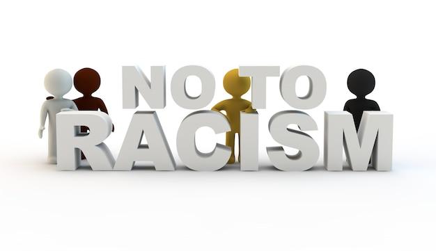 Stripfiguren en bericht tegen racisme