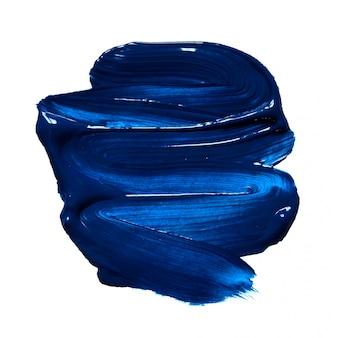 Structurele verf blauw op wit