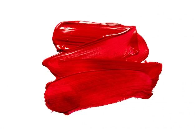 Structurele verf rood op wit