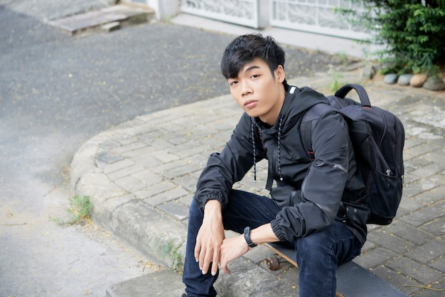 Student in de straat