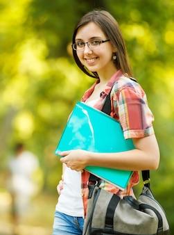 Student meisje met boeken