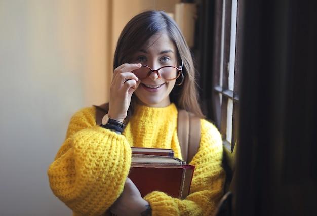 Student met boeken