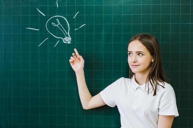 Student met een idee