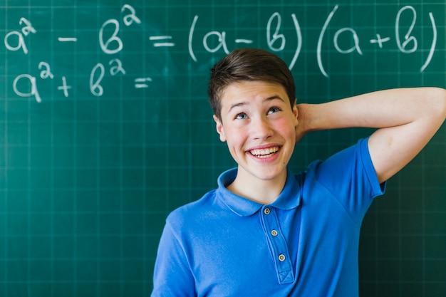 Student met problemen in de wiskunde