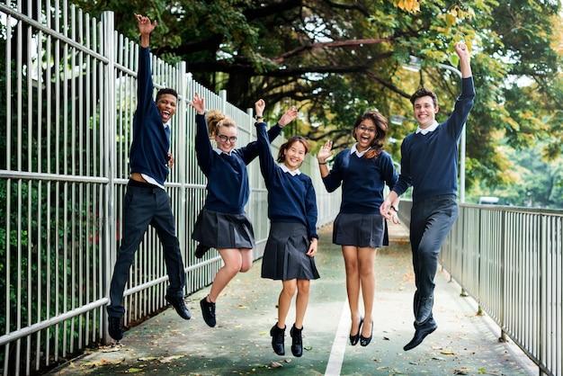 Studenten die samen plezier hebben