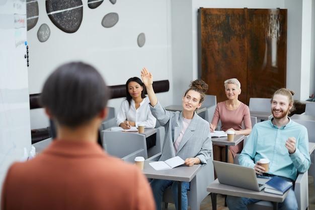 Studenten vragen stellen