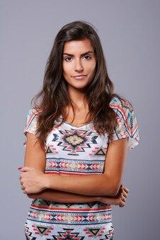 Studio shot fotografie van jonge vrouw