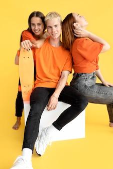 Studioportret van tieners