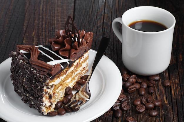 Stuk chocoladetaart