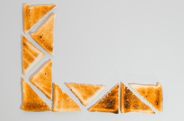 Stuk geroosterd brood