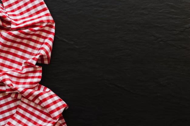 Stuk van mooie geruite doek