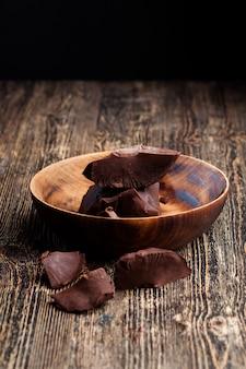 Stukjes chocolade