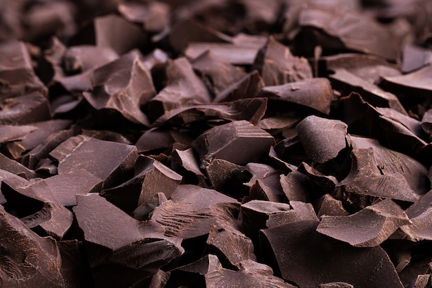 Stukjes pure chocolade