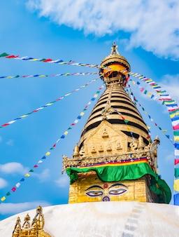 Stupa in de vallei van kathmandu, nepal