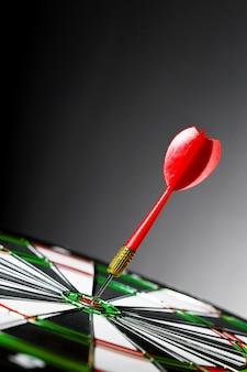 Succes raken van doel, doel doel prestatie concept