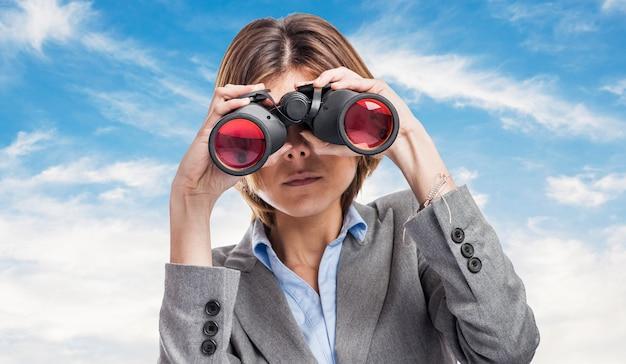 Succes vrouwelijke executive baan hemel