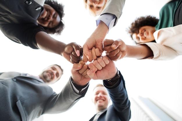 Succesvol en gelukkig commercieel team