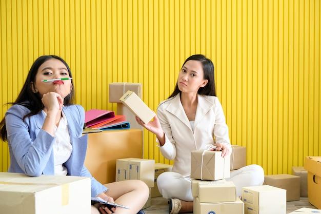 Succesvolle levering van vrouwen en verkopen online