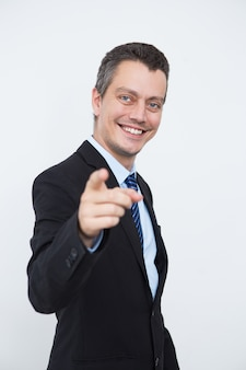 Succesvolle mannelijke ondernemer kiezen jou