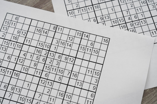 Sudoku-spelpagina-indeling