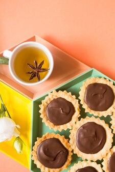 Suiker chocolade dessert concept