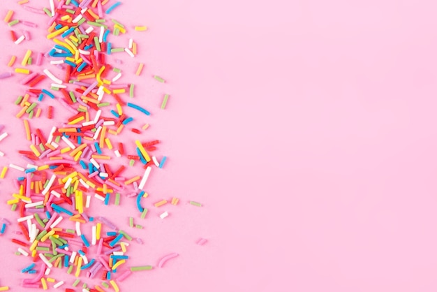 Suiker strooi stippen hartjes, decoratie voor cake en bakkerij, als ondergrond