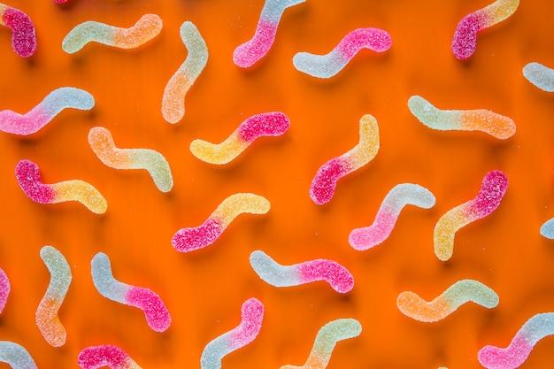 Suikere jelly-wormen