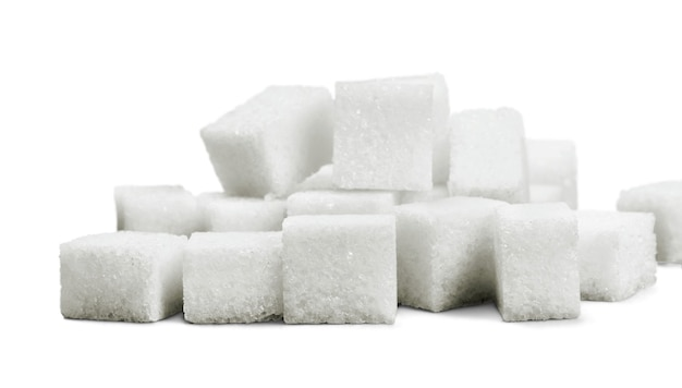 Suikerklontjes op witte achtergrond