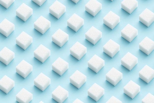 Suikerklontjespatroon op lichtblauw.