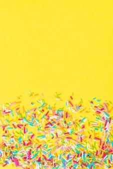 Suikerstrooi stippen, decoratie voor cake en bakkerij, als ondergrond
