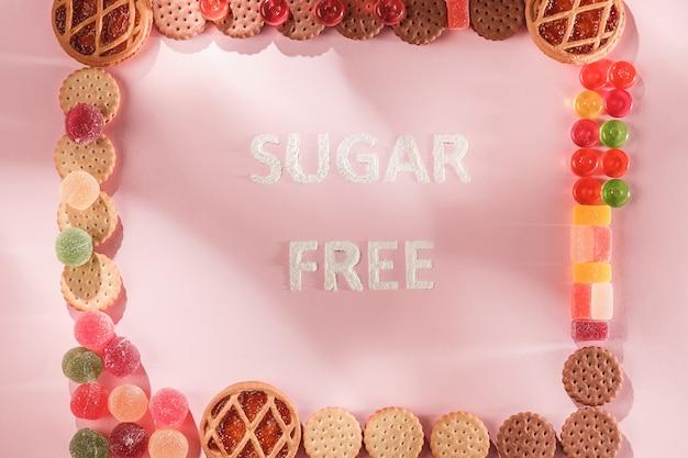 Suikervrije taarten. diëet voeding.