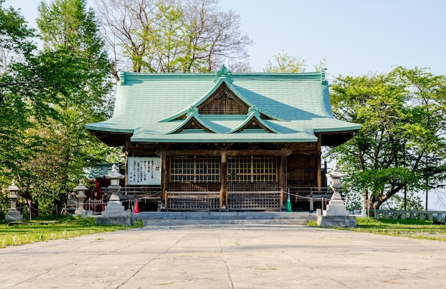 Suitengu-heiligdom de tempel van shinto-godsdienst in otaru, hokkaido, japan.