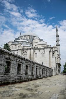 Suleymaniye mosque bevindt zich in istanboel, turkije