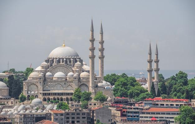 Suleymaniyemoskee in istambul, turkije