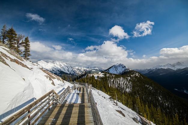 Sulpher mountain in banff, alberta in canada