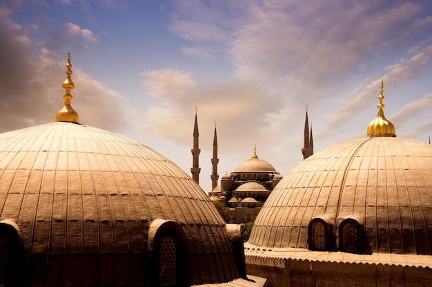 Sultan ahmed blauwe moskee, istanbul turkije