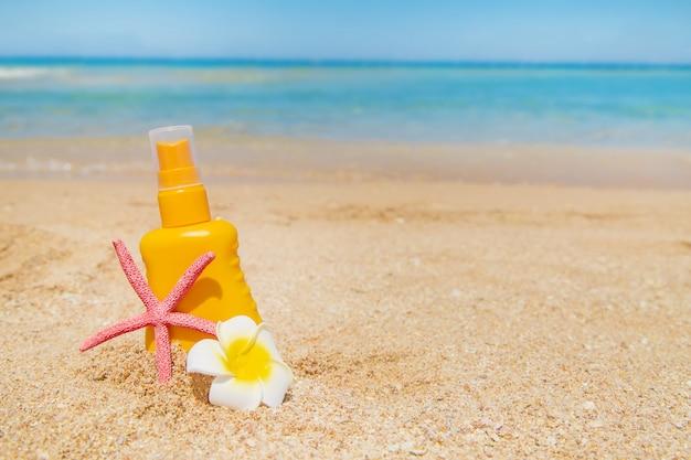 Sunblock op het strand
