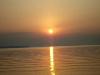 Sunrise over lake superior