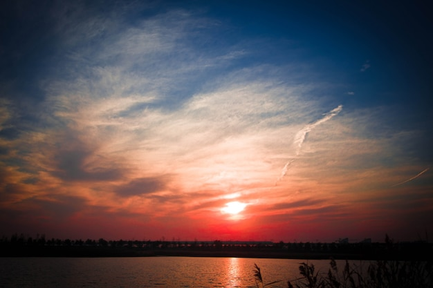 Sunset landschap