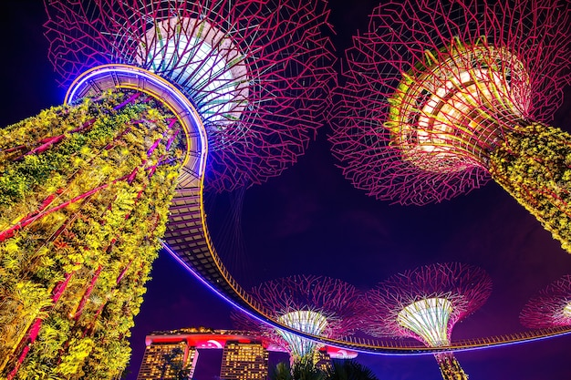 Super boom in garden by the bay, singapore.