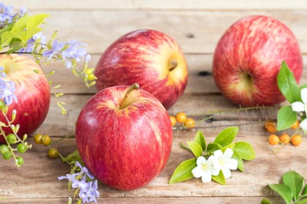 Super fruit rode appel gezond voedsel voor een dieet